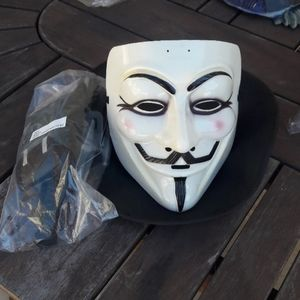 V for Vendetta Mask, Hat and Accessories Halloween